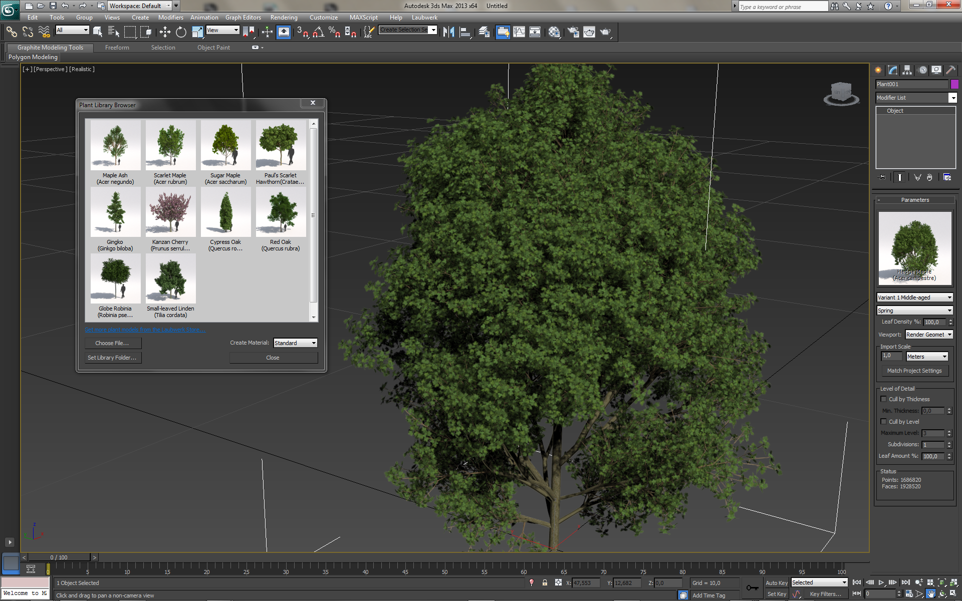 Plant modelling landscape visualization for Garden design in 3ds max