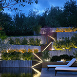 Contemporary Garden by night (CG artwork by Kizo using Cinema 4D and VRAYforC4D 3.3)