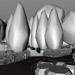 Kizo, 2013, Laubwerk Plants Kit 1, screenshot of fast Convex Hull viewport drawing mode