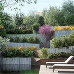 Contemporary Garden by day (CG artwork by Kizo using Cinema 4D and VRAYforC4D 3.3)