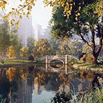 Central Park (artwork by Kizo, Arscom Studio, using CINEMA 4D, Corona Renderer, Plants Kit 13)