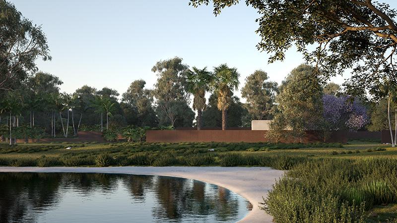 Mediterranean shrub Laubwerk Plants Kit 15 - subtropical trees and palms, by Alberto Cibinetto, Baumatte, using Cinema 4D and V-Ray
